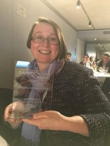 An Coppens with the Outstanding Gamification Agency Award 2017